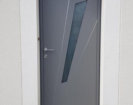 Porte d'entrée Aluminium K•LINE FUSEAU & Volets Battants
