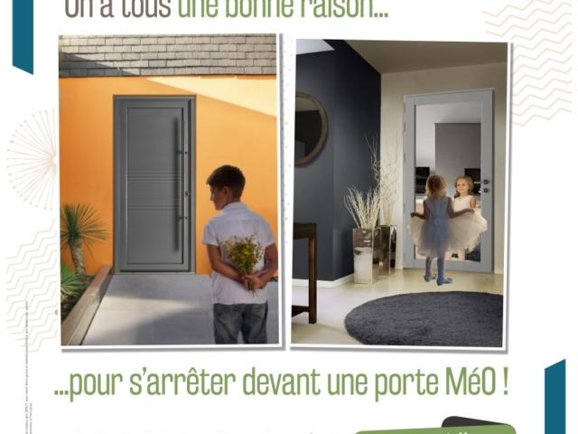 Portes d'entrées Mixte Bois Aluminium – MéO