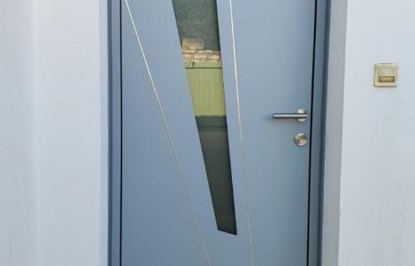 Porte d'Entrée Aluminium – Modèle FUSEAU 85 mm – K.LINE – Sainte-Marie-de-Ré (ILE DE RE)